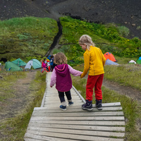 Emstrur and Botnar warden children South,  Iceland, Europe