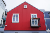 red house Old West Side,  Reykjavík,  Capital Region,  Iceland, Europe