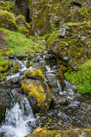 Rauofeldar Canyon creek Vik,  West,  Iceland, Europe