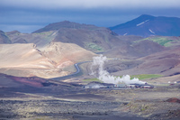 Hverfjall geyser aukery,  Northeast,  Iceland, Europe