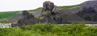 Vesturdalur mammoth rock Eglisstadir,  Northeast,  Iceland, Europe