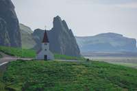 Vik church Vík,  South,  Iceland, Europe