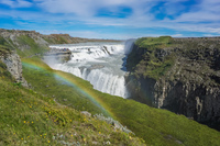 Golden Circle Gullfoss Rainbow Grundarfjordur,  South,  Iceland, Europe