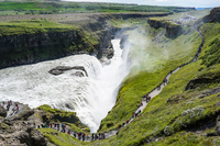 Golden Circle Gullfoss Gullfoss Falls,  Gullfossi,  South,  Iceland, Europe