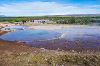 Golden circle Geysir red pool Grundarfjordur,  South,  Iceland, Europe