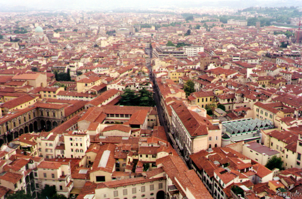 florence dome from above