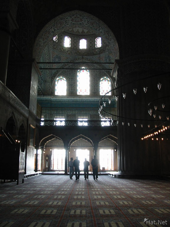 blue mosque four walking saints