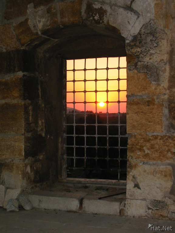 the sunset from the mosque