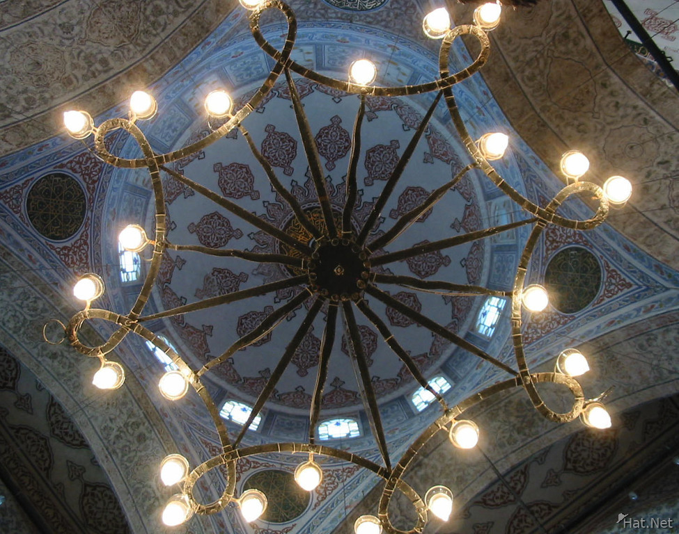 lighting of blue mosque