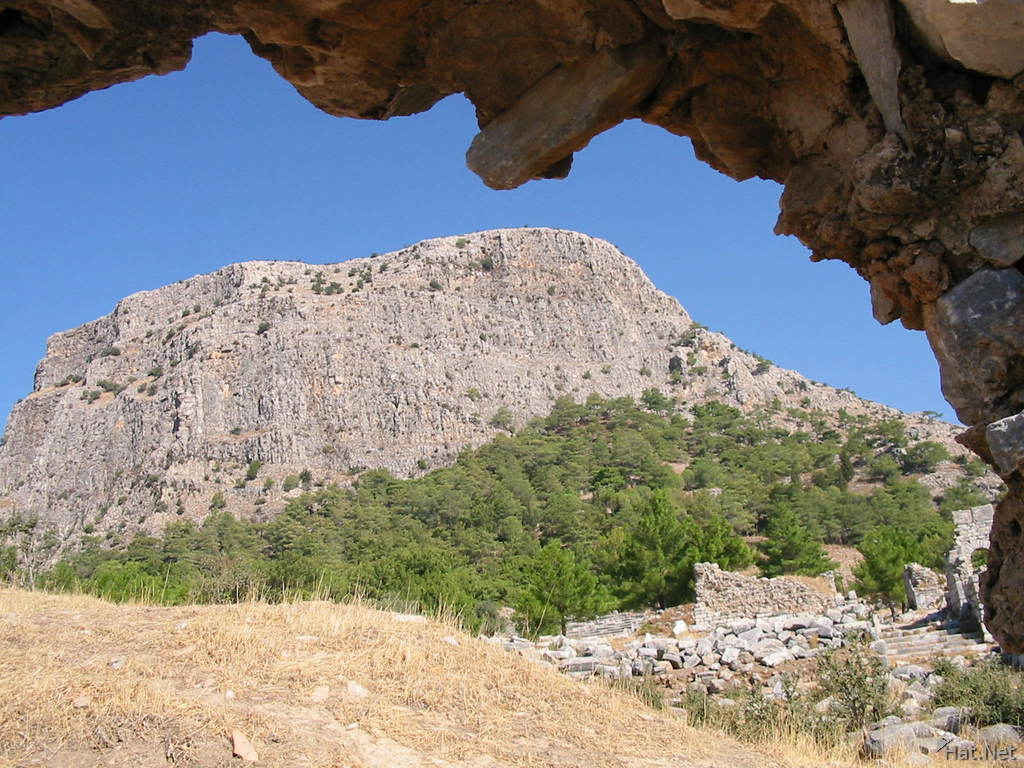 the priene moutain
