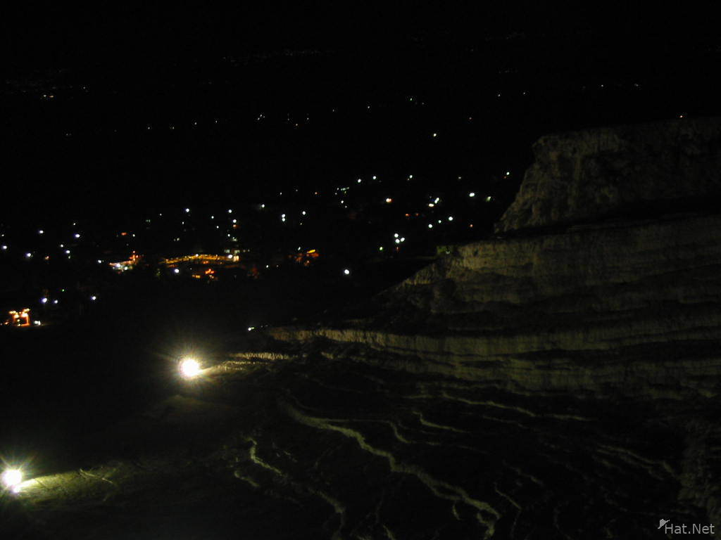 pamukkale at night