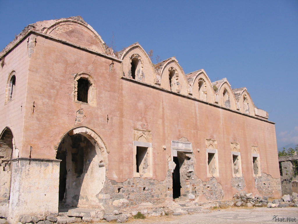 red basilica of kayakoy