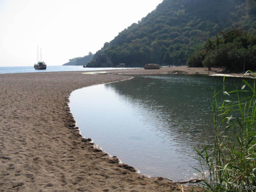 the beach of olimpos