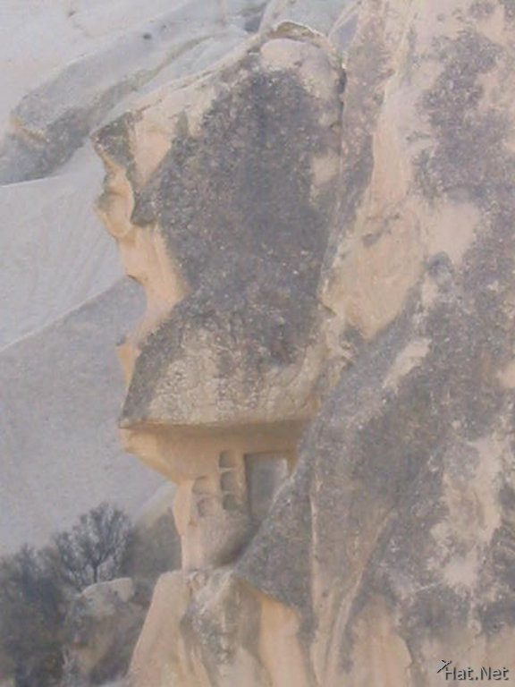 rock face outside of apple church