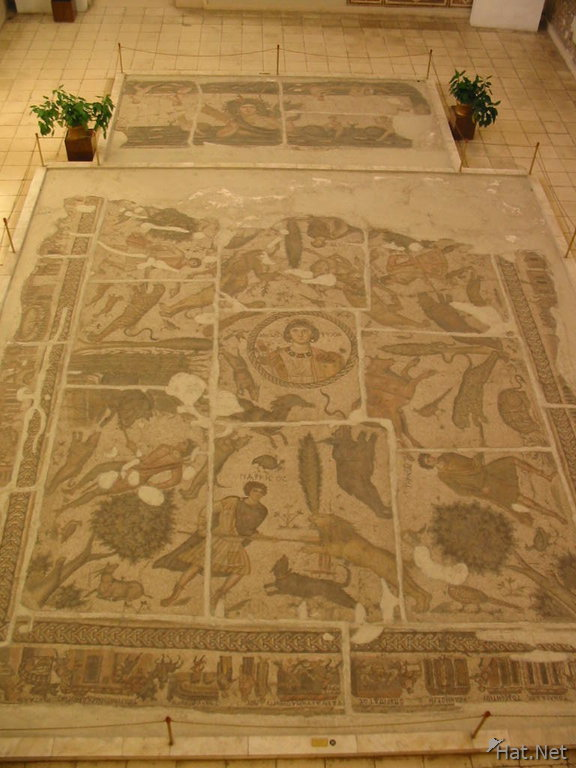 floor mosaic of hunting