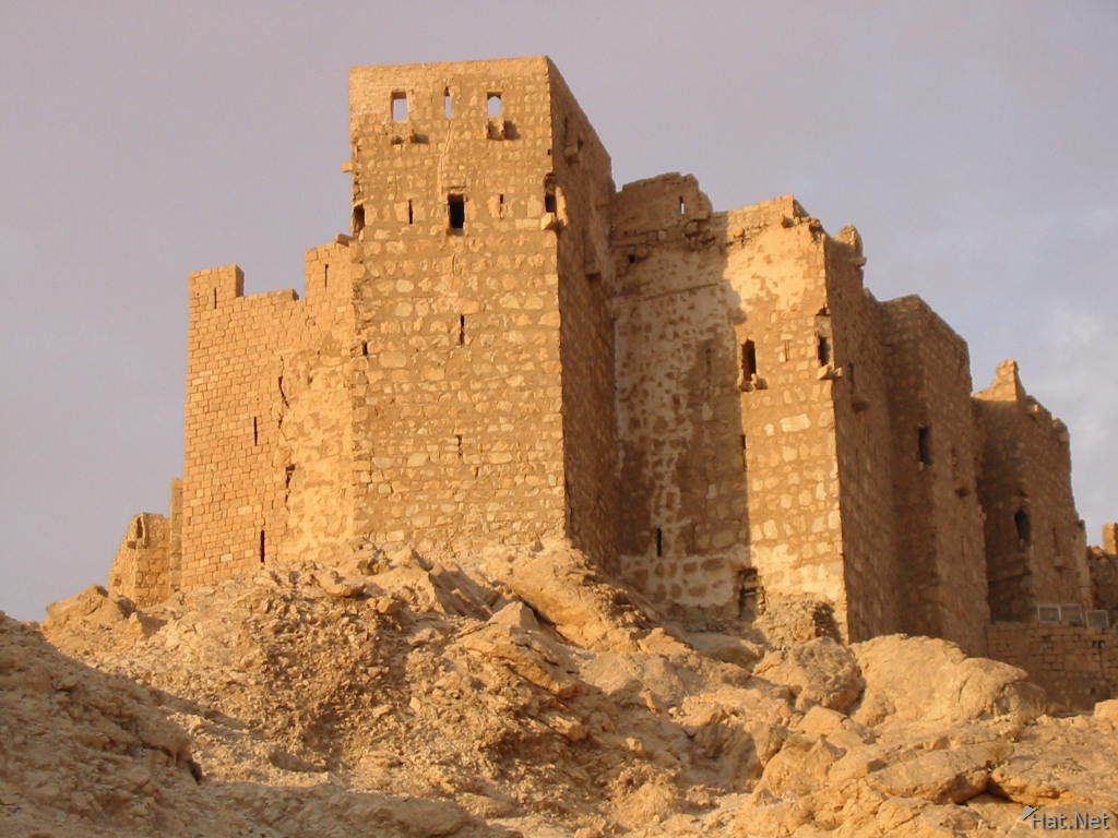 arabic castle for sunset