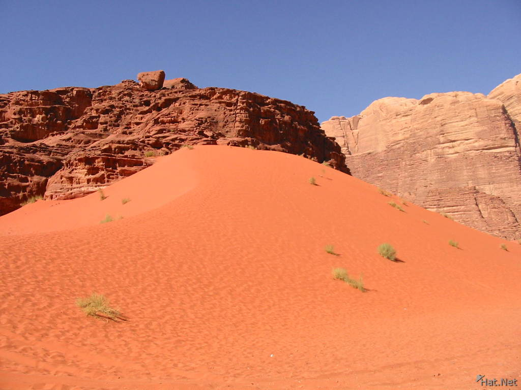 red sand dune of wadi rum