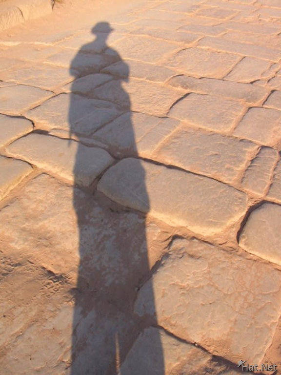 my shadow and me on street of petra