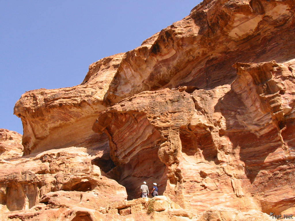 looking up from wadi farasa
