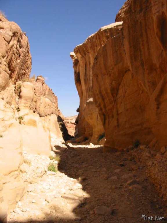 into the wadi