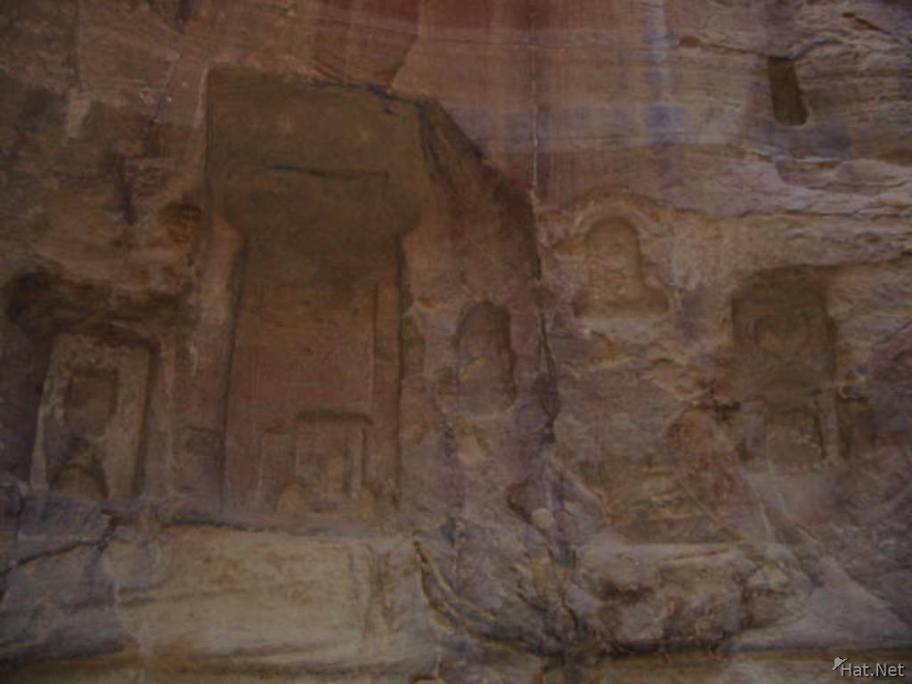 carving on the wadi wall