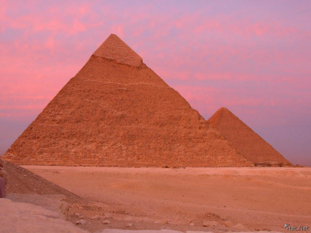 pyramids beneath the burning sky