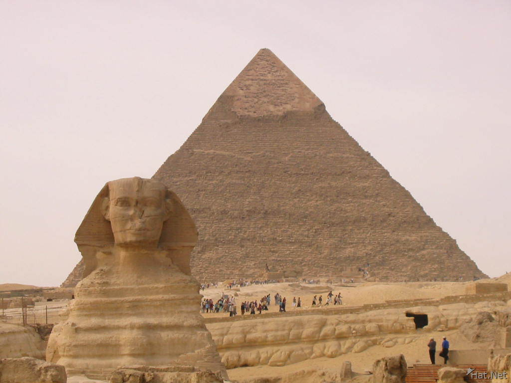 sphinx and the pyramid