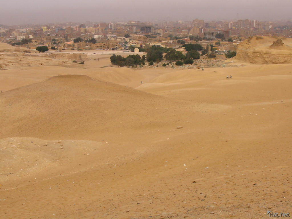 cairo from the pyramids