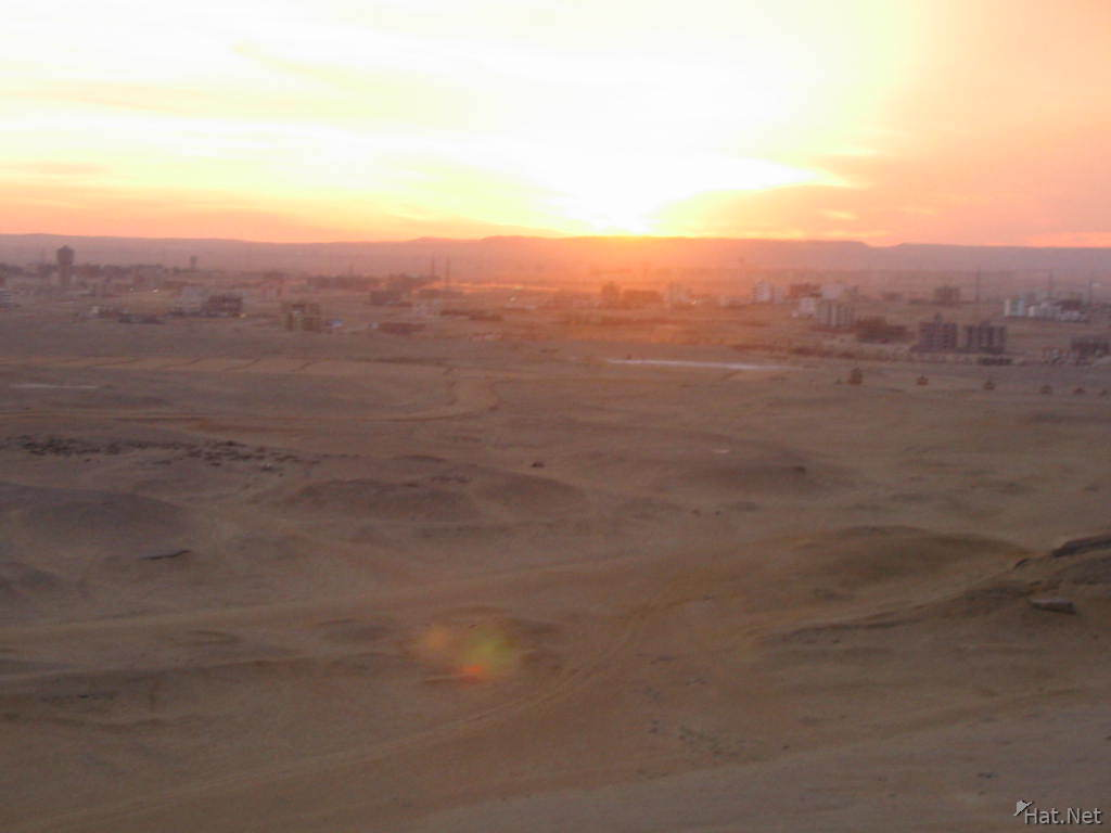 sunset from the pyramids s
