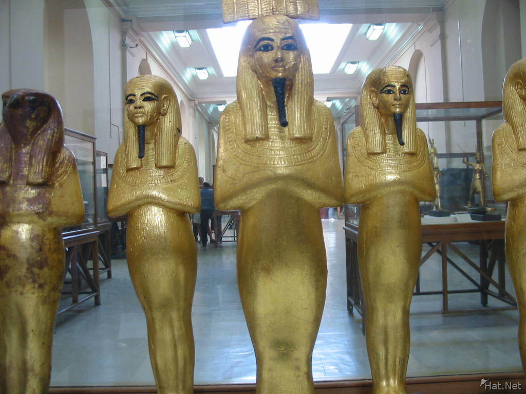 gold statue of gods