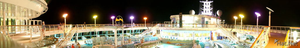 ship pool at night
