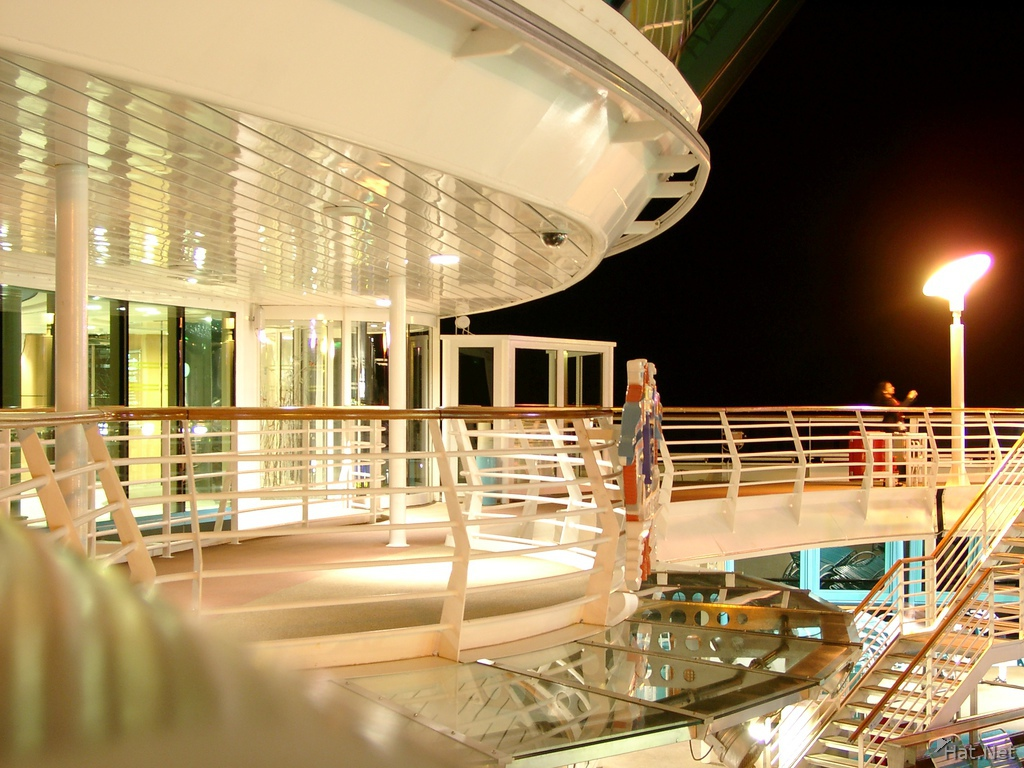 night life on the ship