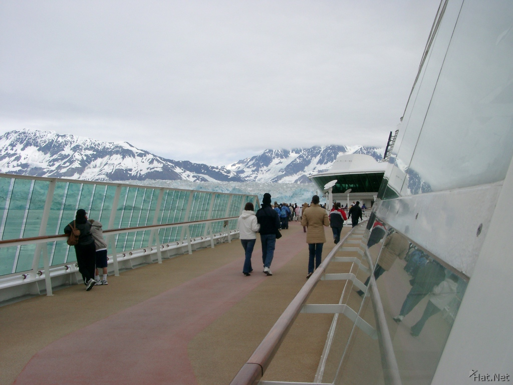 viewing glacier on board