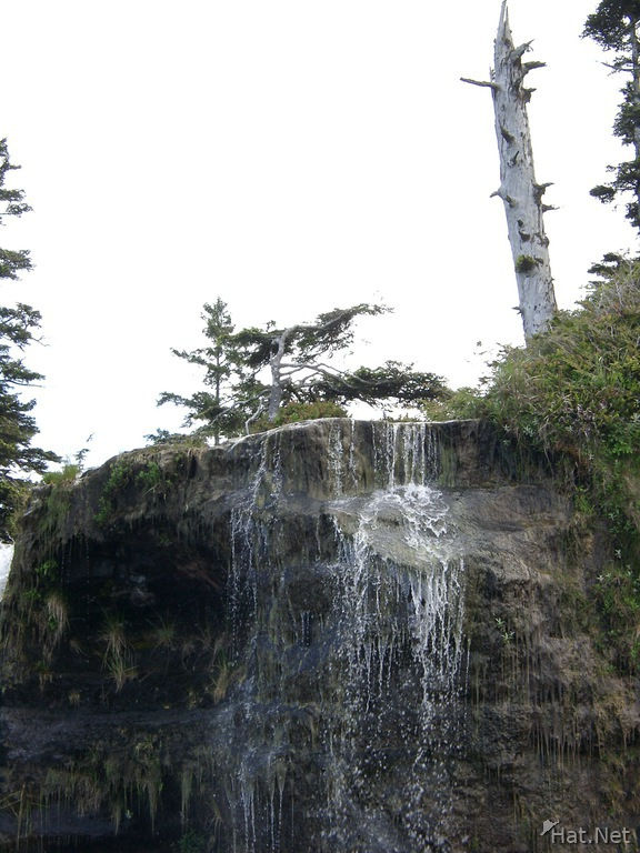 top of waterfall