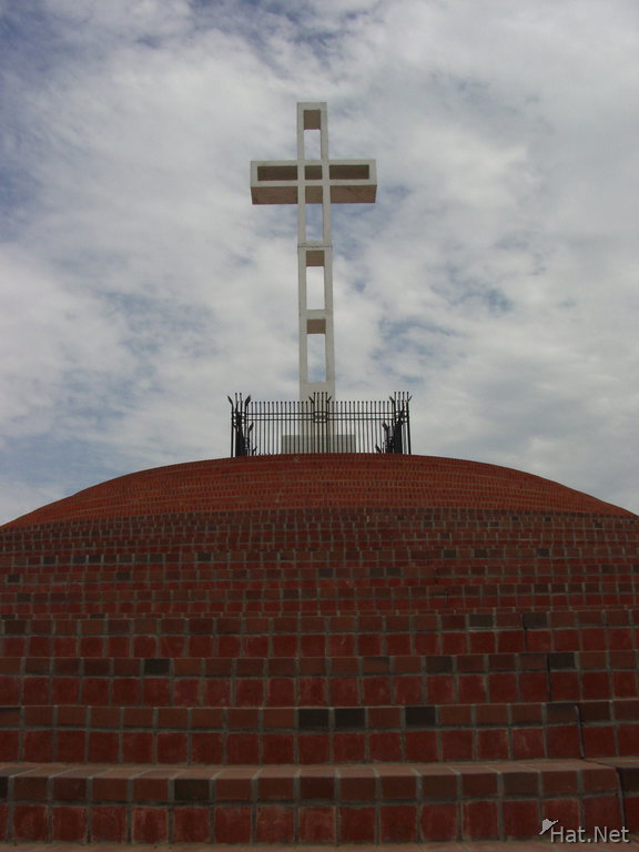 cross at the top of mountain