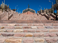 steps to humahuaca hero mounment Humahuaca, Jujuy and Salta Provinces, Argentina, South America