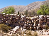 stone wall of coctaca Humahuaca, Jujuy and Salta Provinces, Argentina, South America