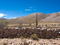 low stone wall Humahuaca, Jujuy and Salta Provinces, Argentina, South America