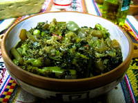 food--vegetarian plato in kallapurca Humahuaca, Jujuy and Salta Provinces, Argentina, South America