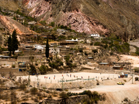 high altitude football Tilcara, Iruya, Jujuy and Salta Provinces, Argentina, South America