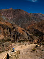 hello kitty on condor trail Iruya, Humahuaca, Jujuy and Salta Provinces, Argentina, South America
