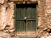 windows of poor family Tilcara, Iruya, Jujuy and Salta Provinces, Argentina, South America