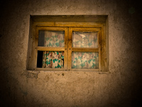 broken windows Tilcara, Iruya, Jujuy and Salta Provinces, Argentina, South America