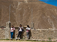 brothers and sister Iruya, Jujuy and Salta Provinces, Argentina, South America