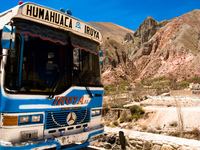 transport--bus from iruya to humahuaca Tilcara, Iruya, Jujuy and Salta Provinces, Argentina, South America