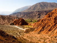 path to seven colored view Purmamarca, Northern Salta Provinces, Argentina, South America