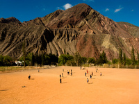 fairyland football Purmamarca, Northern Salta Provinces, Argentina, South America