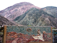 secret path to seven color mountain overview Purmamarca, Northern Salta Provinces, Argentina, South America