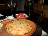 food--vegetarian tortilla Purmamarca, Northern Salta Provinces, Argentina, South America