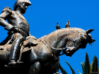 view--general and his pigeons Salta, Cafayate, Jujuy and Salta Provinces, Argentina, South America